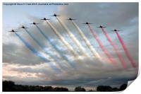 Red Arrows - Arrival, Print