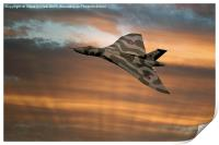 Avro Vulcan XH558 At Sunset, Print