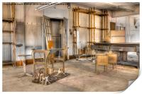 Abandoned Sewing Factory, Print