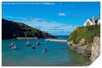 Port Isaac harbour, Cornwall., Print