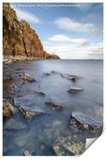 Hawkcraig Point Portrait , Print