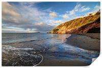 Early morning at Millendreath Beach Looe, Print