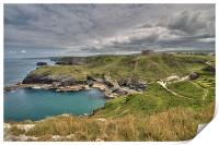 View from Tintagel Castle, Print