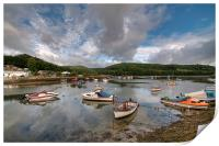 Clouds gather on the River Looe, Print