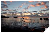 Colourful sunrise at Meadfoot Beach Torquay, Print