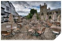 Early morning in Exeter Cathedral Yard , Print