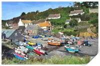 Cadgwith Cove on the Lizard Peninsula in Cornwall, Print