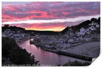 Looe at Sunset from Hannafore West Looe, Print
