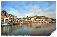 Early morning on The River Looe in Cornwall, Print