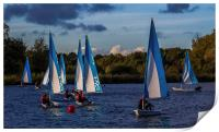 Dinghy Sailing at Dinton Pastures, Print