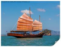 Chinese style junk in the Andaman Sea, Print
