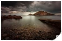 Rough weather over Mumbles lighthouse, Print