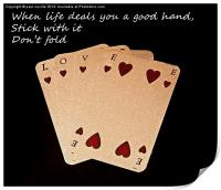 Love is on the cards, Print