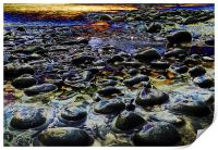 Purple Pebbles, Print