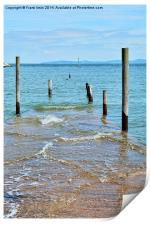 Rhos-on-Sea jetty with the tide in, Print