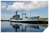RFA Black Rover in Birkenhead Docks, Print