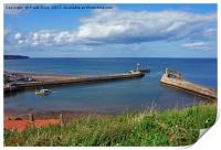 Whitby Harbour and its 2 piers, Print