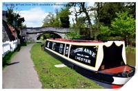 Canal boat at Christleton, Print