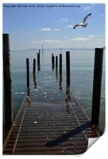 The jetty at Rhos-on-Sea. North Wales, Print