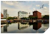 Liverpool across Salthouse Dock, Print