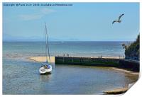 Abersoch harbour, North Wales, Print