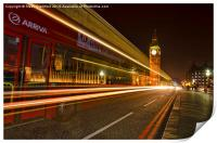Westminster bridge bus, Print