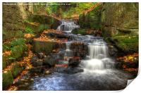 Waterfall at Lumsdale, Print