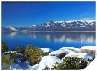 Lake Tahoe Winter, Print