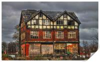 Abandoned House in Manchester, Print