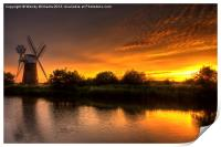 Turf Fen Sunset, Print