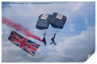 Proud To Be British-Tigers Parachute Display Team, Print