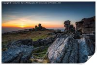 Staple Tor Sunset, Print