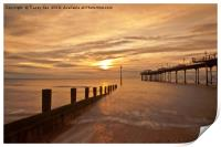 Teignmouth Pier Sunrise. , Print