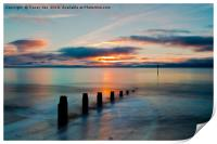Daybreak from Teignmouth Beach, Print