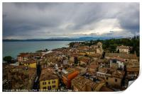 Sirmione Italy Rooftop View, Print
