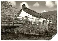 Cottage By The Stream, Print