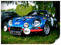 "The Alpine A110 ""Berlinette"", Print"
