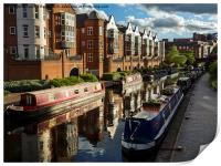 Birmingham Canal and Barges, Print