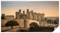 Conwy Castle Sunset Panorama, Print