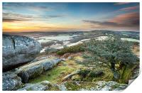 Frosty Morning at Helman Tor in Cornwall, Print
