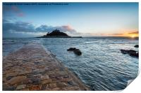 Sunset at Marazion, Print