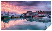 Sunrise at Padstow, Print