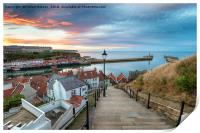 Sunset over Whitby Harbour, Print