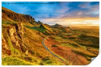Beautiful sunrise over the Quiraing on the Isle of, Print