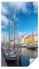 Copenhagen Nyhavn District with Foreground Tallshi, Print