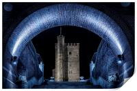 Helsingborg Karnan Through The Arch At Night, Print
