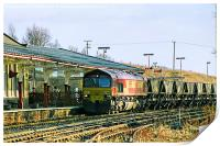 Freight Train at Hellifield, Print