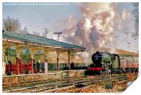 Green Arrow Arriving at Hellifield, Print