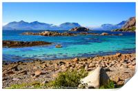 A Bright Summer Day in the Lofoten Islands, Print