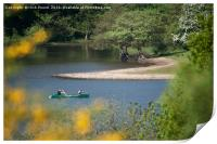Canoeing on Rudyard Lake, Print